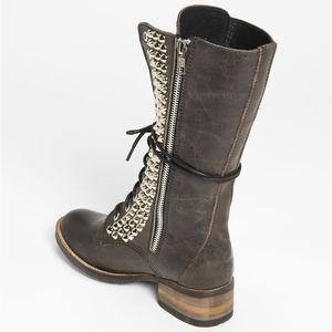 Steve Madden Tropador studs black leather boots
